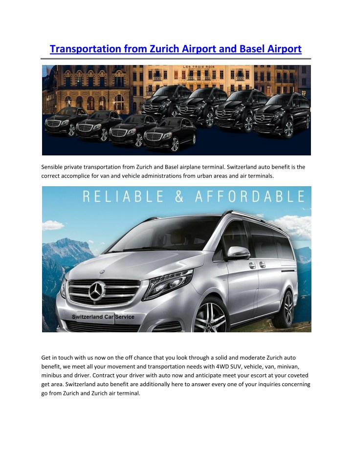 transportation from zurich airport and basel n.