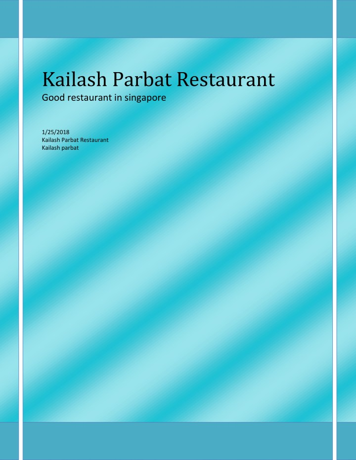 kailash parbat restaurant good restaurant n.