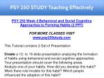 psy 250 study teaching effectively 4