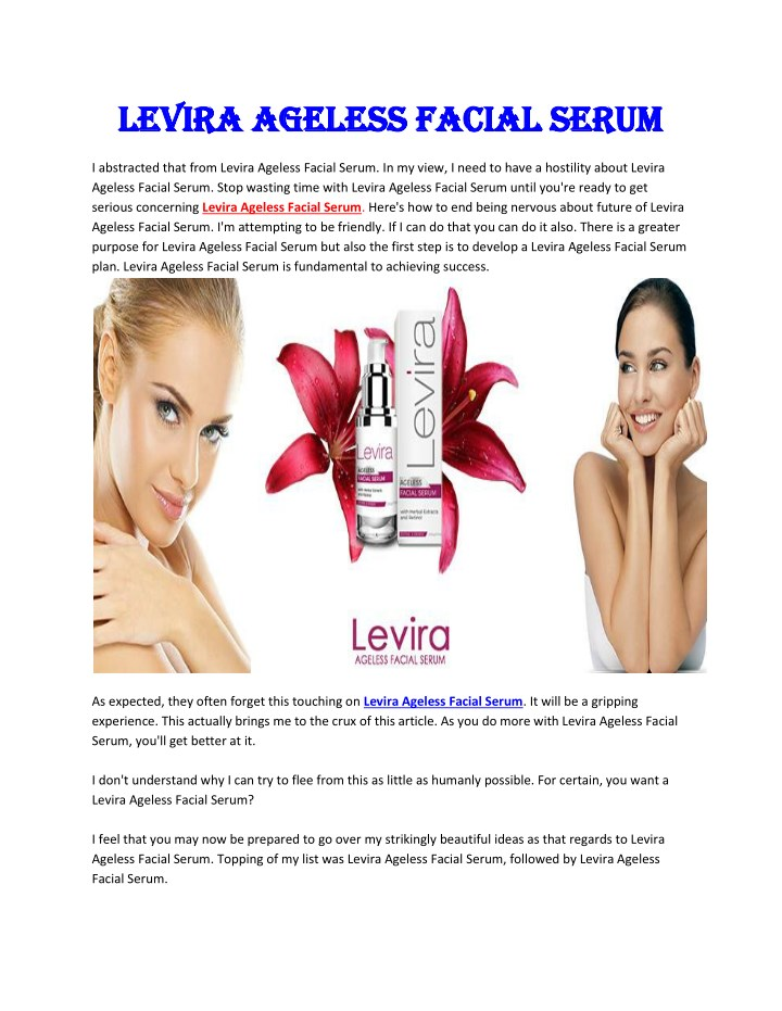 levira ageless facial serum levira ageless facial n.