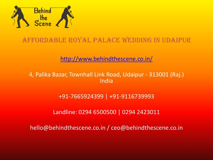 affordable royal palace wedding in udaipur n.
