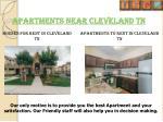 apartments near cleveland tn