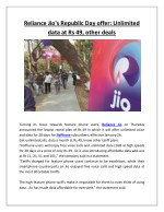 reliance jio s republic day offer unlimited data