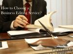 how to choose a business editing service