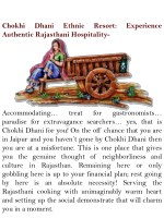 chokhi authentic rajasthani hospitality