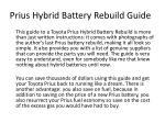 prius hybrid battery rebuild guide