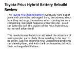 toyota prius hybrid battery rebuild review 1
