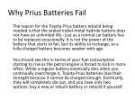 why prius batteries fail