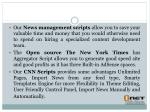 our news management scripts allow you to save