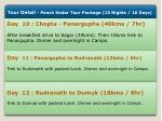 tour detail panch kedar tour package 15 nights 3