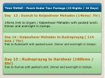 tour detail panch kedar tour package 15 nights 4