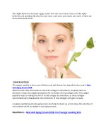 the alpha hydroxyl acid anti aging creams have