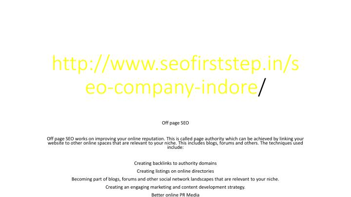 http www seofirststep in seo company indore n.