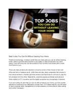 best 9 jobs you can do without leaving your home