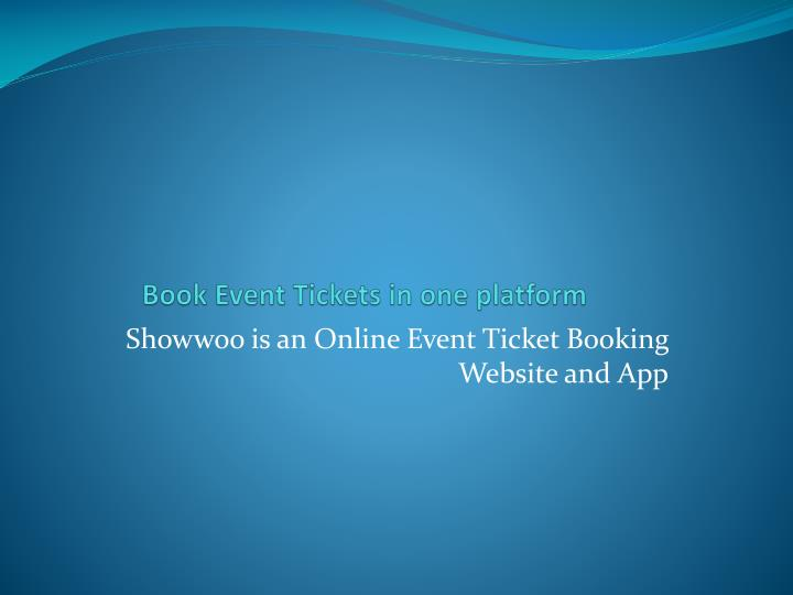 book event tickets in one platform n.