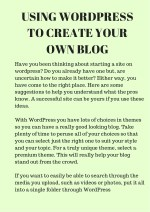 using wordpress to create your own blog