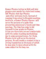 kumar physics tuition in delhi will duly prepare