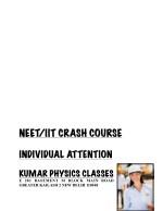 neet iit crash course 2