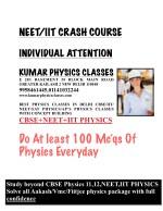 neet iit crash course