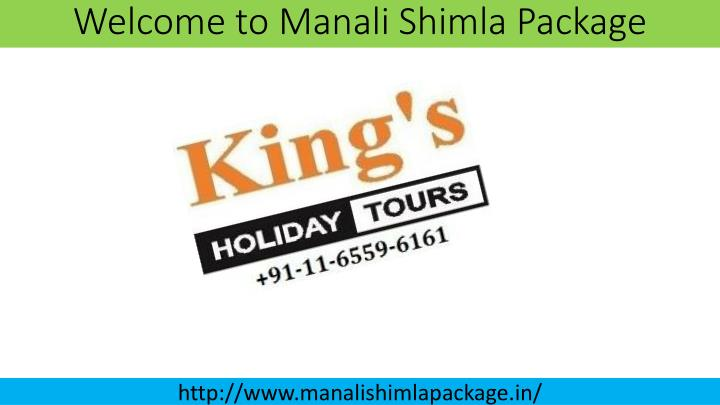 welcome to manali shimla package n.