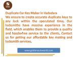 duplicate car key maker in vadodara we ensure