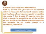 get your car door key done within an hour with
