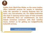 golden auto world key maker as the name implies