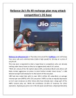 reliance jio s rs 49 recharge plan may attack
