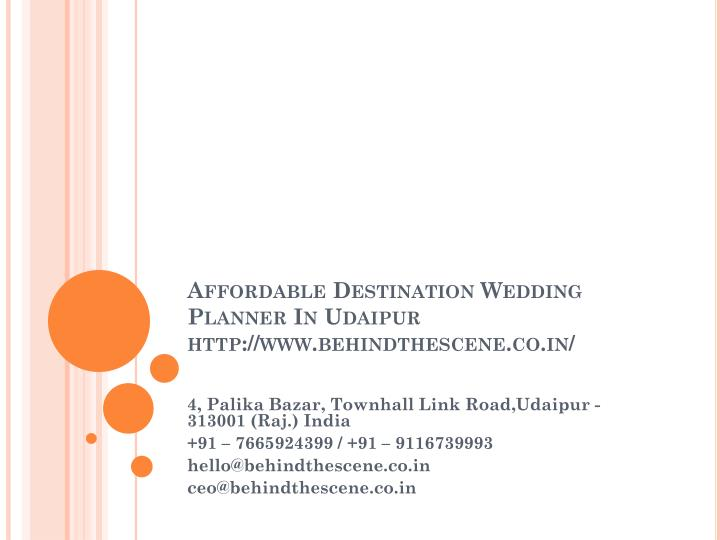 affordable destination wedding planner in udaipur http www behindthescene co in n.