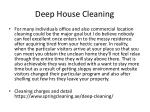 deep house cleaning