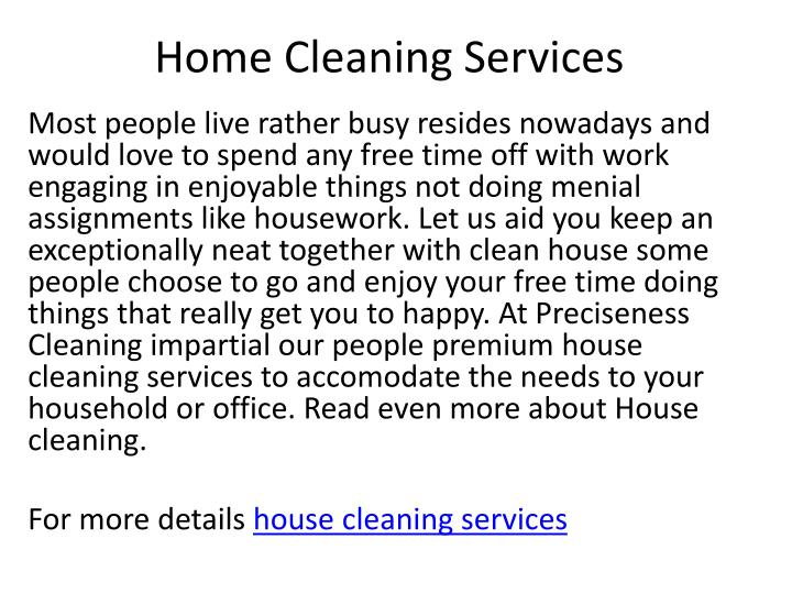 home cleaning services n.