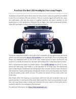 purchase the best led headlights from jeep people