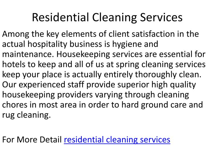 residential cleaning services n.