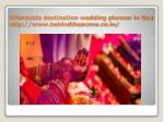 affordable destination wedding planner in goa http www behindthescene co in 6