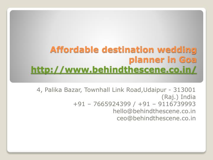 affordable destination wedding planner in goa http www behindthescene co in n.