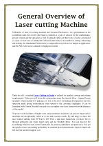 general overview of laser cutting machine