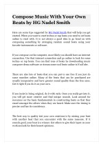 compose music with your own beats by hg nadel