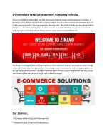 e commerce web development company in india