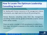 how to locate the optimum leadership consulting 1