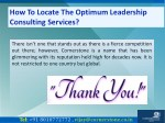 how to locate the optimum leadership consulting 10