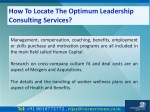 how to locate the optimum leadership consulting 3
