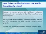 how to locate the optimum leadership consulting 4