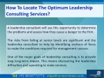 how to locate the optimum leadership consulting 5