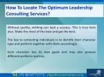how to locate the optimum leadership consulting 7