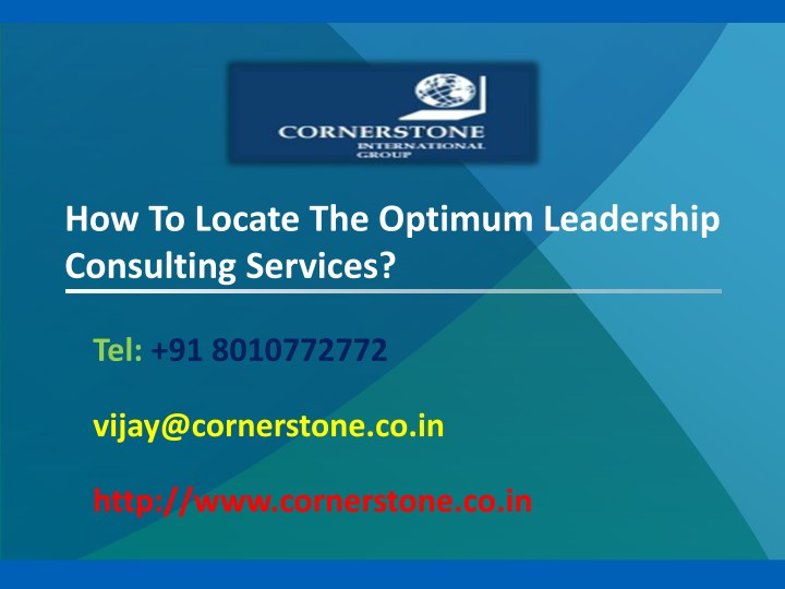 how to locate the optimum leadership consulting n.