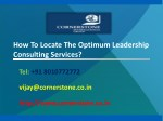how to locate the optimum leadership consulting