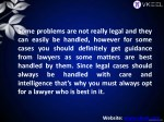 some problems are not really legal and they