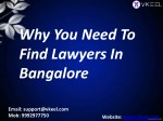 why you need to find lawyers in bangalore
