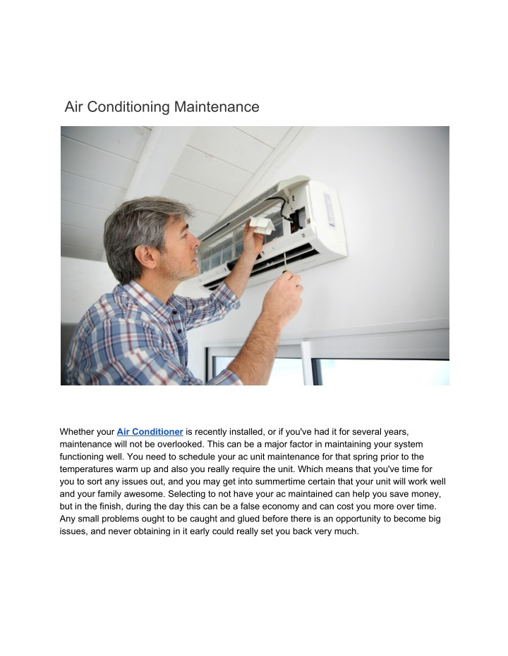 air conditioning maintenance n.