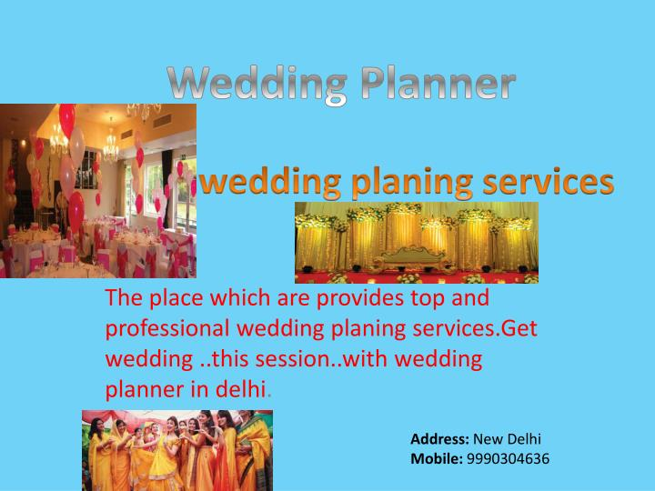 wedding planing services n.